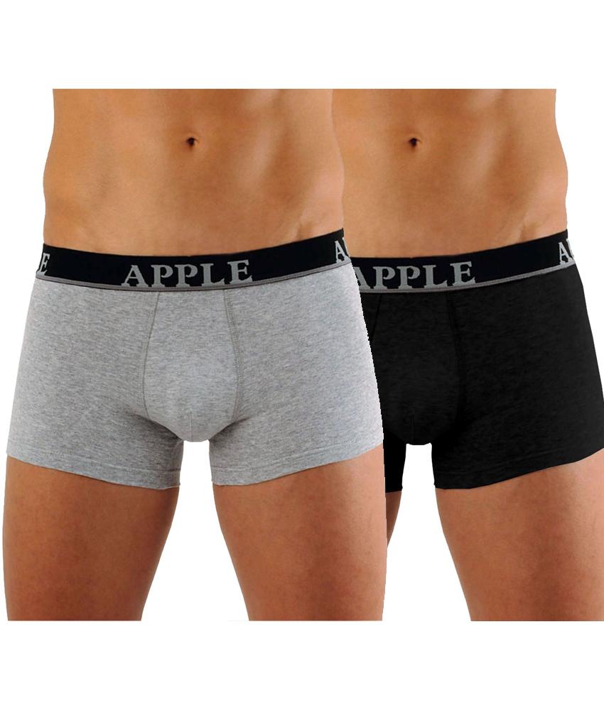 Bodyman Apple Boxer 2 τεμάχια 0112149 Grey Black 014de539782