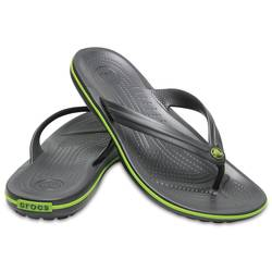 Crocs σαγιονάρες 11033-0A1 Crocband Graphite Volt Green